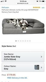 New Petfusion Jumbo memory foam dog bed
