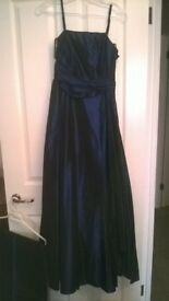 petrol blue prom dress with matching shawl size 8