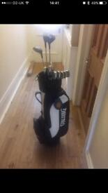 Howson long left handed clubs with bag
