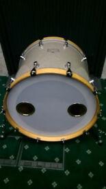 Mapex Saturn Series 3 (III) Full Maple Bass Drum Virgin 22x18