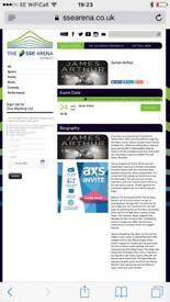 2 x James Arthur tickets