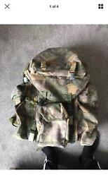 Bergen 20 quid back pack day sack army bag military