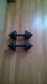 bench / 20 kg dumbbell set