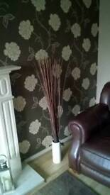 Twig lights with vase
