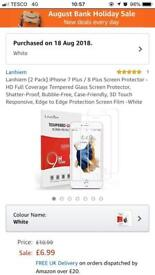 Iphone 7 or 8 plus tempered glass screen protectors
