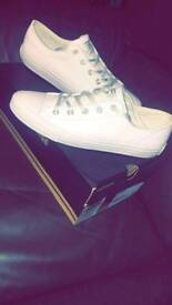 Brand new white converse.