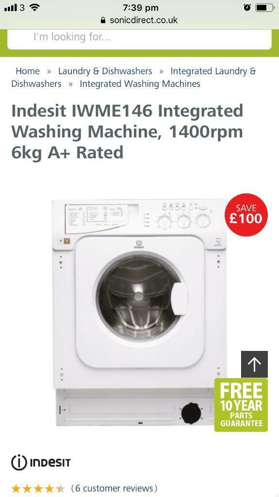 Indesit Integrated Washing Machine   in Bradford, West Yorkshire   Gumtree