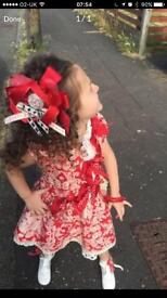 Little darlings dress with hair clip age 5