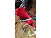 Quinny zapp extra,swivel highchair,baby swing