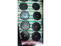 10kg, 7.5kg & 5kg Cast Iron Weight Plates 1 inch Hole, Standard Size (barbell, dumbell)