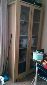 Heart of House 2 door display cabinet - oak effect
