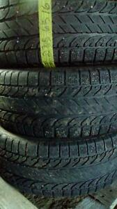 Three BFGoodrich Winter Salome 235 65 16 tires.