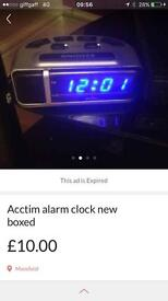 Acctim alarm clock new boxed