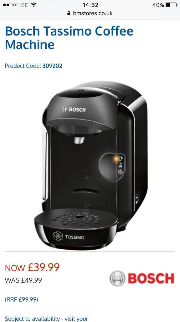 Bosch tassimo Vivy coffee machine & pods