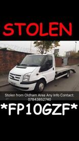**STOLEN FORD RECOVERY TRUCK*STOLEN*FP10 GZF**** ANY INFO