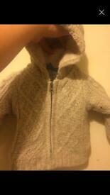 Baby knitted jacket