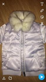 Girls mini river island coat