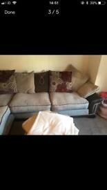 Pillow backed SCS corner sofa.