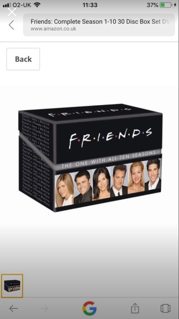 Complete friends dvd boxset season 1-10 | in Poole, Dorset | Gumtree