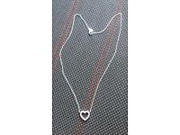 Pandora diamond heart necklace