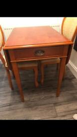 Vintage antique table with 2 chairs