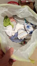 Bundle of Baby boy clothes up to 1 month