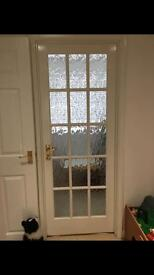 Internal glass pane door