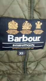 Girls brown barbour jacket xs aged 4-5