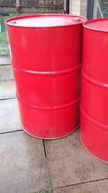 205litre/45 gallon steel tight head barrel drums for burner, BBQ, liquid & powder container, planter