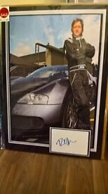various signed pictures, genuine cloth signed pics, sports memorabilia ect