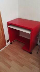 Ikea red desk