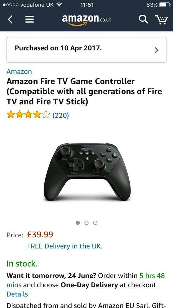 Amazon Fire TV Box with Game Controllerin Cardiff Bay, CardiffGumtree - Amazon Fire TV Latest model brought as a gift but no longer wanted Also have the controller so you can play games I will also include a 16GB micro SD card for extra storage.In box as new £80 Ono Package is on amazon for £126