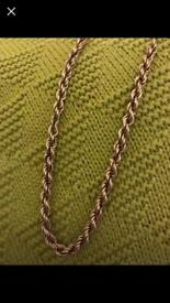 9ct Gold rope chain