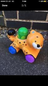 Tiger pull and push along toy