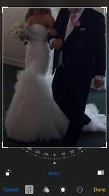 Size 10/12 sarah louise bridal wedding dress