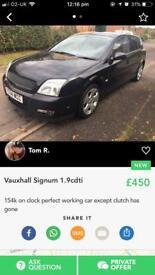 Vauxhall signum 1.9 cdti