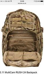 Camouflage 5.11 RUSH 24 Backpack