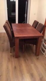 DFS TABLE AND FOUR CHAIRS