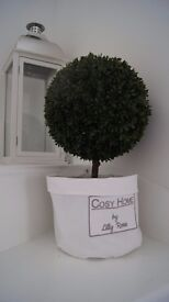 Artificial topiary ball tree