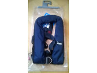 2 x Bluewave 150N Harness Automatic Lifejacket in navy blue
