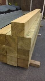 New 6x6(150mmx150mm) Sawn Pressure Treated Timber Post in 2.4m & 3.0m Lengths