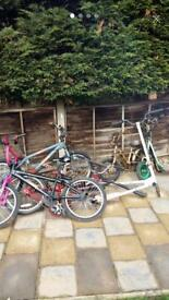 Children's/kids bikes/scooter bundle