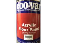 Garage, workshop floor paint. 5 x 5litres