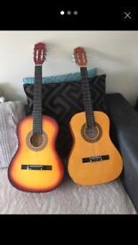 2 astoustic guitars