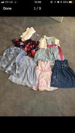 Girls dresses & cardigans age 12-18 months 10 items altogether