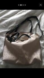 River island slouch bag pink/cream bag Brand New