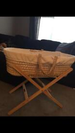 Moses basket,baby bath,baby changing unit and baby bouncer