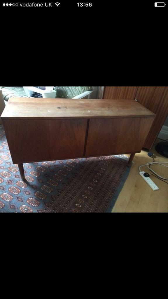 Lovely mid century solid wood vintage sideboard cupboard