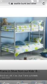 Silver frame bunk beds NEW still in box