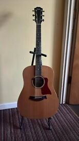 Big baby taylor acoustic guitar with fishman rare earth humbucking pickup installed